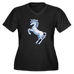 Unicorn Kingdom Women's Plus Size V-Neck Dark T-Sh