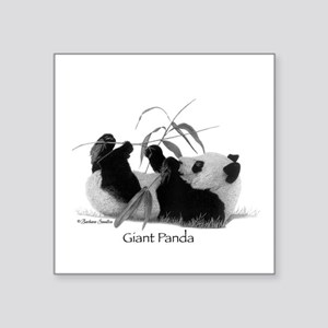 "Giant Panda Square Sticker 3"" x 3"""