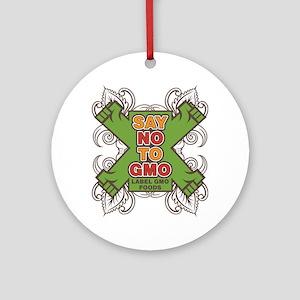Say No to GMO Ornament (Round)