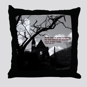 The reality of words Throw Pillow