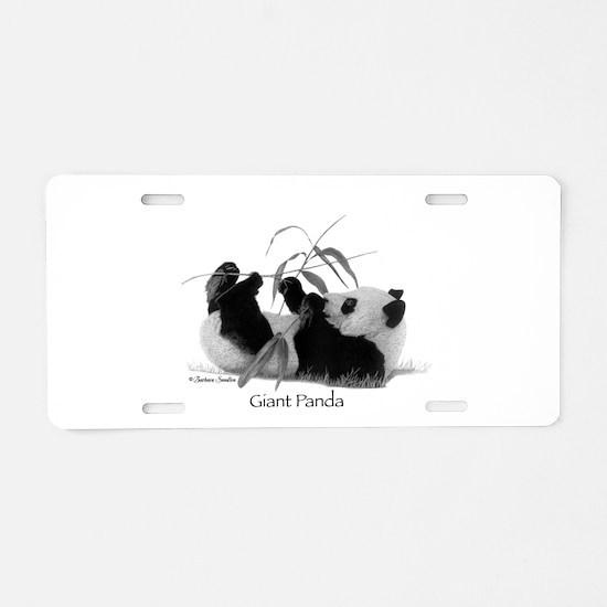 Giant Panda Aluminum License Plate