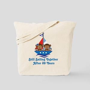 39th Anniversary Sailing Tote Bag