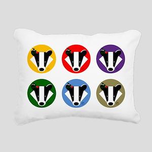 Christmas Badger Face Rectangular Canvas Pillow