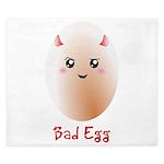 Funny Bad Egg King Duvet