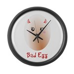 Funny Bad Egg Large Wall Clock