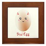 Funny Bad Egg Framed Tile