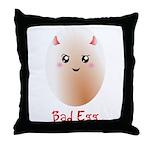 Funny Bad Egg Throw Pillow
