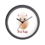 Funny Bad Egg Wall Clock