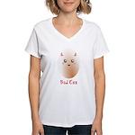 Funny Bad Egg Women's V-Neck T-Shirt