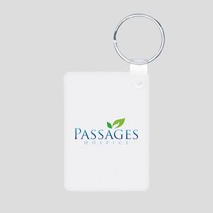 Passages Hospice Logo Aluminum Photo Keychain