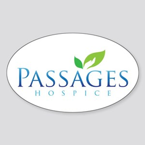 Passages Hospice Logo Sticker (Oval)