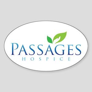 Passages Hospice Logo Sticker (Oval)