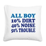 ALL BOY Square Canvas Pillow