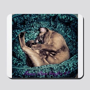 Burmese in Teal Cat Bed Mousepad