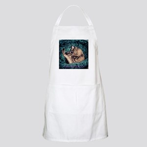 Burmese in Teal Cat Bed Apron