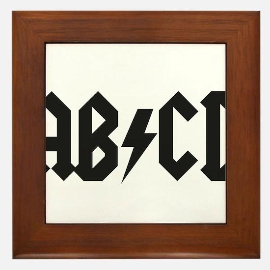 ABCD Kids' Shirt Framed Tile