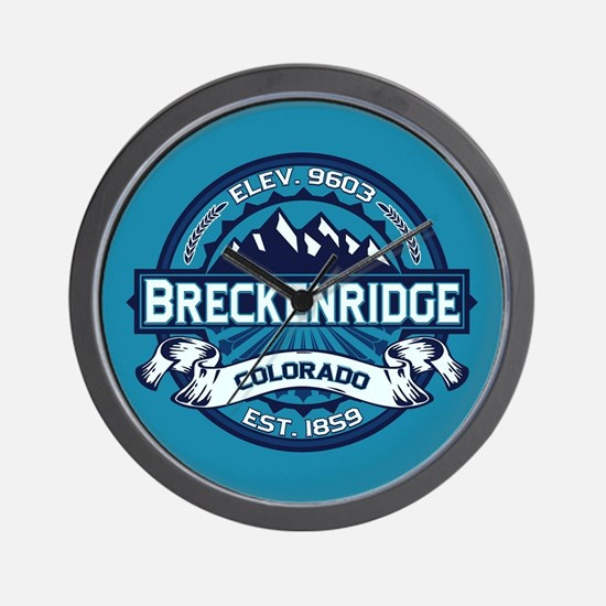 Breckenridge Ice Wall Clock