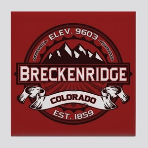 Breckenridge Red Tile Coaster