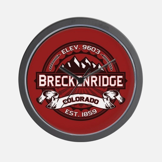 Breckenridge Red Wall Clock
