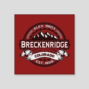 """Breckenridge Red Square Sticker 3"""" x 3"""""""