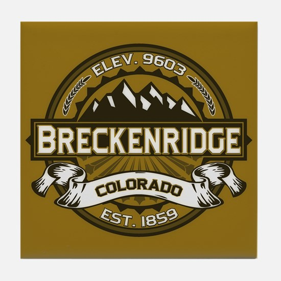 Breckenridge Tan Tile Coaster