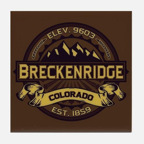 Breckenridge Sepia Tile Coaster