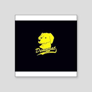 "Yellow Dog Democrat Square Sticker 3"" x 3"""