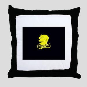 Yellow Dog Democrat Throw Pillow