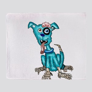 Zombie Dog Throw Blanket