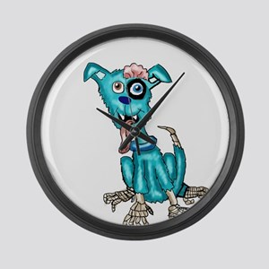 Zombie Dog Large Wall Clock