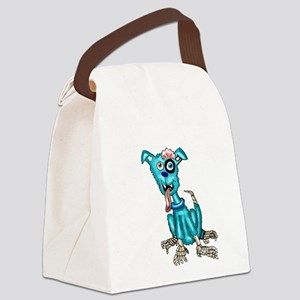 Zombie Dog Canvas Lunch Bag