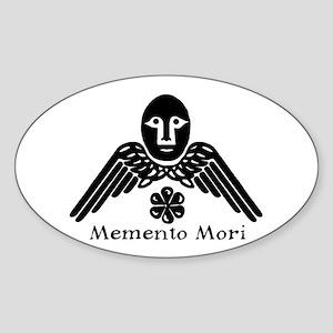Memento Mori Oval Sticker