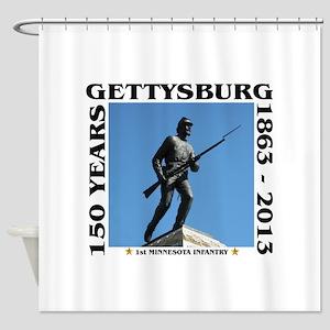 Gettysburg - 1st Minnesota Infantry Shower Curtain