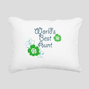 Worlds Best Aunt Rectangular Canvas Pillow