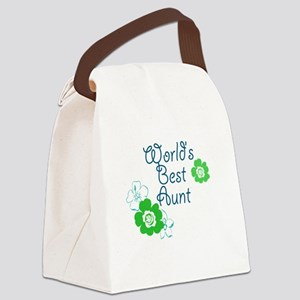 Worlds Best Aunt Canvas Lunch Bag