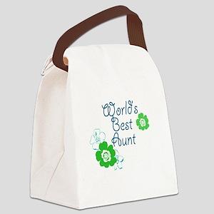Worlds Best Aunt Canvas Lunch Bag