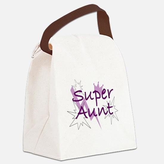 Super Aunt Canvas Lunch Bag