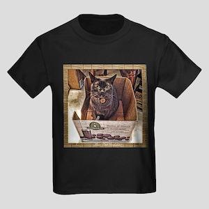 Juice Box Cat Kids Dark T-Shirt