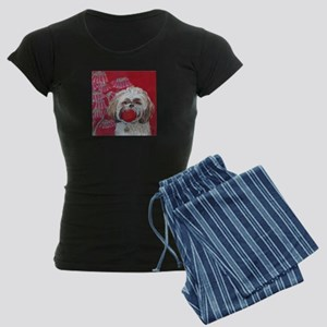 """""""Lhasa Apso"""" Women's Dark Pajamas"""