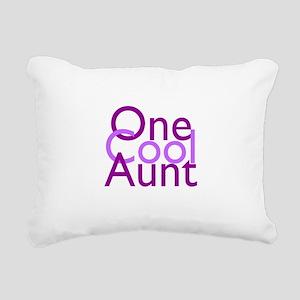 One Cool Aunt Rectangular Canvas Pillow