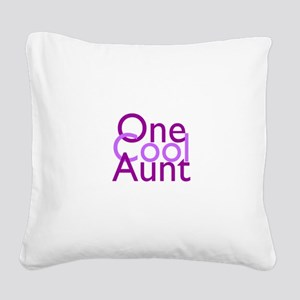 One Cool Aunt Square Canvas Pillow
