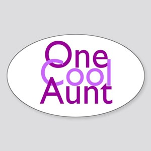 One Cool Aunt Sticker (Oval)
