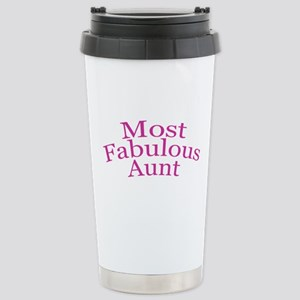 Most Fabulous Aunt Stainless Steel Travel Mug