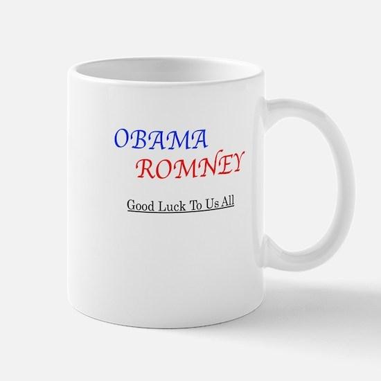 ObamaRomney - Good Luck To Us All Mug