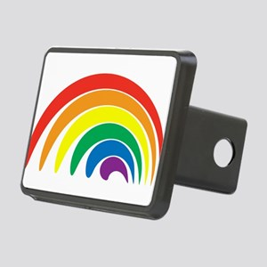 Funky Rainbow Rectangular Hitch Cover