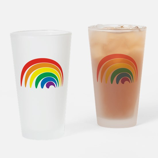 Funky Rainbow Drinking Glass