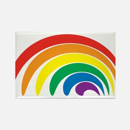Funky Rainbow Rectangle Magnet