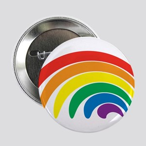 "Funky Rainbow 2.25"" Button"