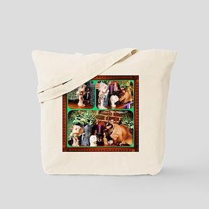 Cat Meets Kachina Triptych Tote Bag