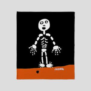 HI54AUTM Skeleton Spider Throw Blanket
